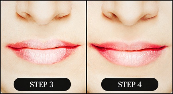 Red Ombre Lips Step by Step