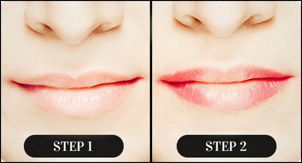 Red Ombre Lips Tutorial Step-1