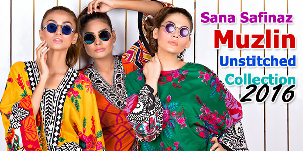 Muslin Lawn by Sana Safinaz 2016 Collection