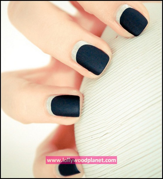 The Two-Tone Nail Design