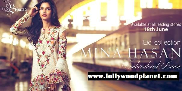 Shariq Textiles Mina Hasan Eid Collection 2016