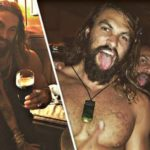 Jason Momoa Goes Shirtless at His Birthday Party with Michael Fassbender
