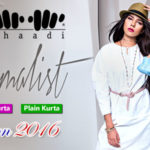 Khaadi Minimalist 2016 Embroidered Plain Kurta