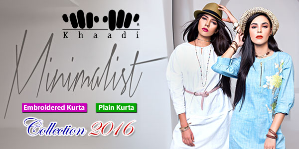 Khaadi Minimalist 2016 Embroidered Plain Kurta