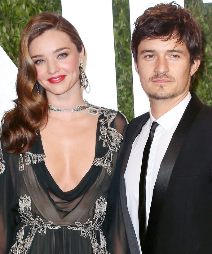 8. MIRANDA KERR AND ORLANDO BLOOM