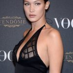 Bella Hadid Flashes Nipple Ring