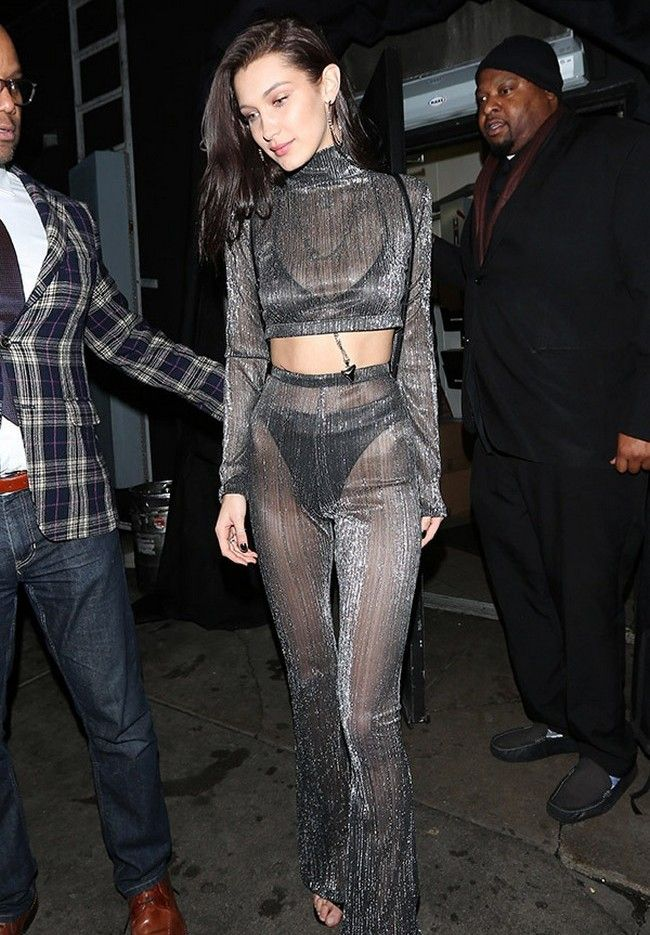 Bella Hadid attends New Year Eve party