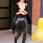 Bella Hadid steps out Braless