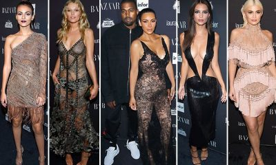 Harper's Bazaar Icon party filled with stars in nearly nude dresses