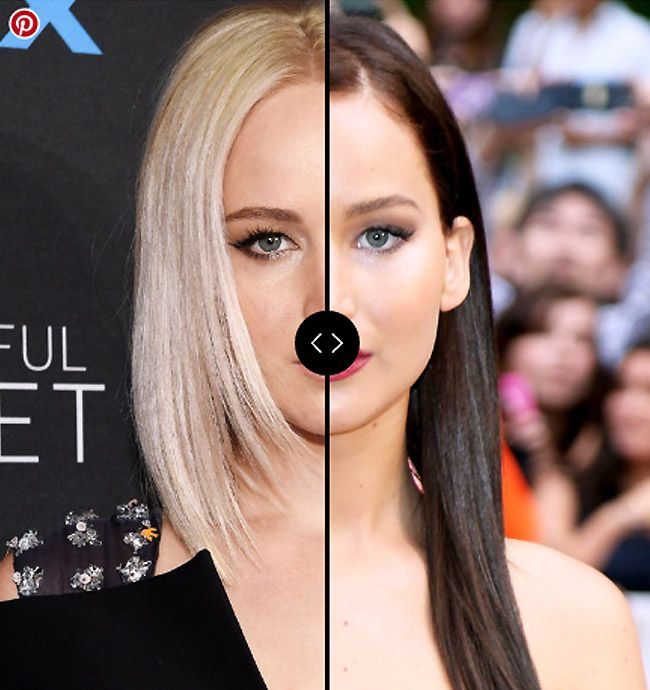Blonde Vs Brunette Jennifer Lawrence Hair Colors