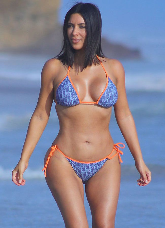 Kim Kardashian West's Body Defies Gravity in a Vintage Dior Bikini