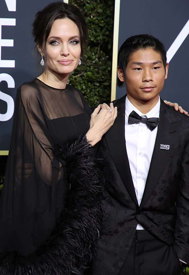 Angelina and Maddox 75th Golden Globe Awards Red Carpet