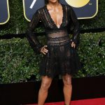 `Halle Berry 75th Golden Globe Awards Red Carpet